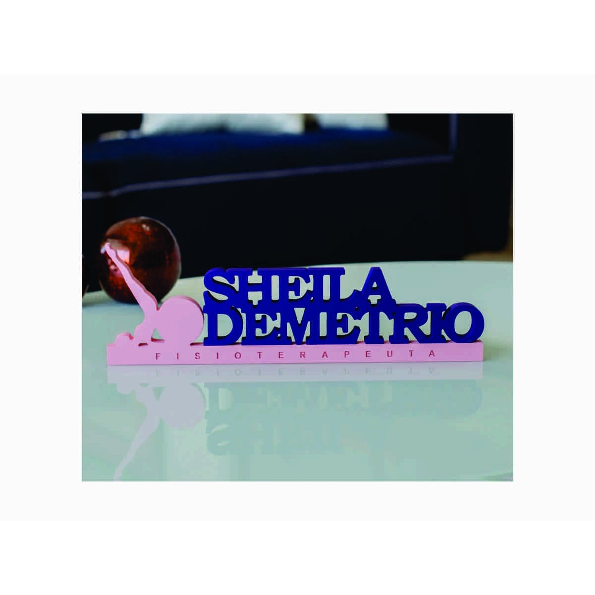 Placa de Mesa - Profissões - Esteticista- Personalizavel | Personalizado - 50x20cm