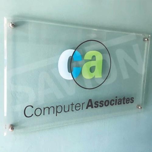 Placa Personalizada Empresa | Logo | Marca | Nome - 20x20cm