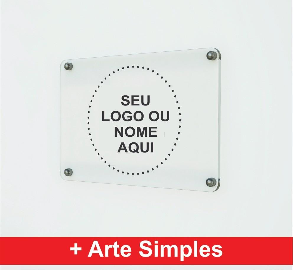 Placa Personalizada Empresa | Logo | Marca | Nome - 40x05cm