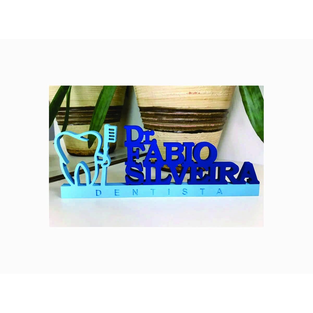 Placa de Mesa - Profissões - Dentista | Odontologia- Personalizavel | Personalizado - 50x20cm