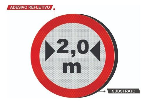 Placa R-16 (largura Máxima Permitida) Refletivo Grau Técnico Comercial - 50x50cm
