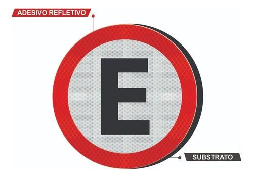 Placa R-6b ( Estacionamento Regulamentado) Grau Técnico Comercial - 50x50cm