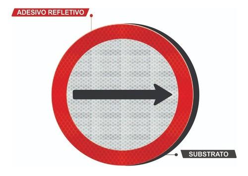 Placa Sentido De Circulação Da Via Refletivo R-24a Grau Técnico I - 50x50cm