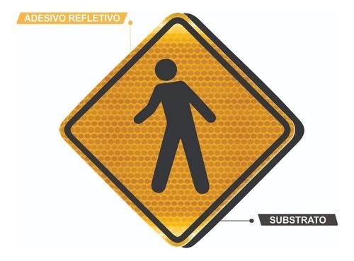 Placa Trânsito De Pedestre Grau Técnico A-32a Grau Técnico I - 50x50cm