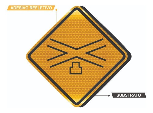 Placa Viária Cruz De Santo André Refletivo A-41 Grau Técnico Comercial - 50x50cm