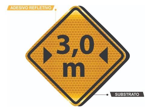 Placa Viária Largura Limitada Refletivo A-38 Grau Técnico I - 50x50cm