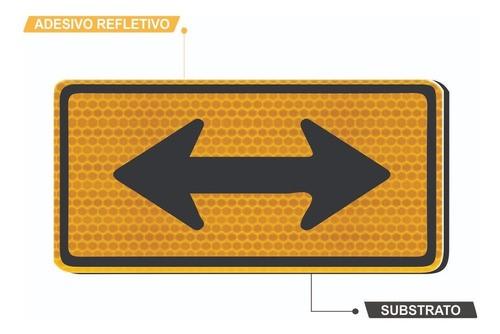 Placa Viária Sentido Duplo Refletivo A-26b Grau Técnico I - 50x50cm