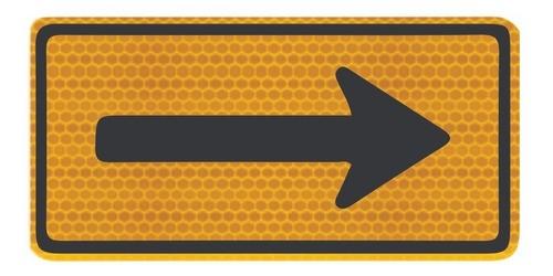 Placa Viária Sentido Único Refletivo A-26a Grau Técnico Comercial - 50x50cm