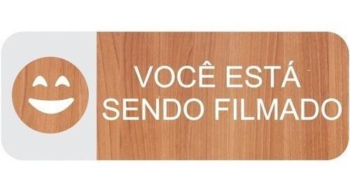 Placa Você Está Sendo Filmado - Alto Relevo - 25x9cm