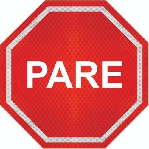 Placas De Pare (parada Obrigatória) Adesivo Refletivo R-1 Grau Técnico Comercial