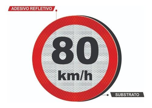 Placas De Velocidade Máxima C/ Adesivo Refletivo R-19 - 50x50cm