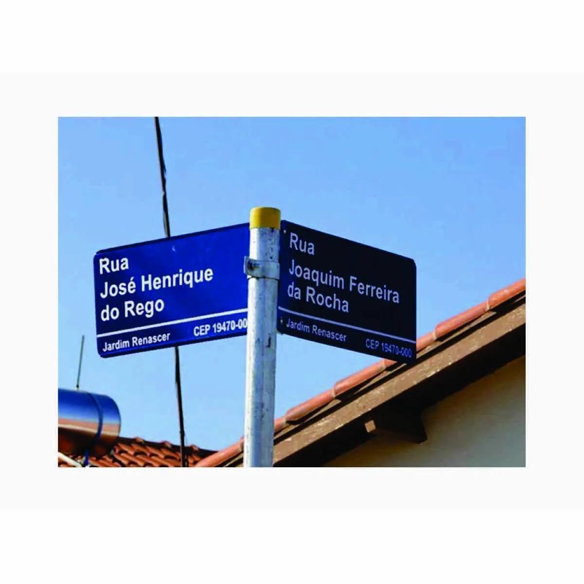 Placa Nome De Rua | Logradouro Refletivo Grau Técnico Comercial  45x25