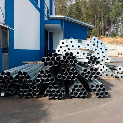 Poste | Tubo | Poste Padrão De Aço Galvanizado 3,5m