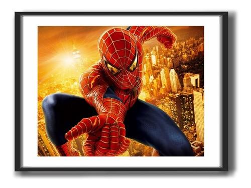 Quadro Decorativo Com Moldura -  Marvel -  Homem Aranha - 50x40cm