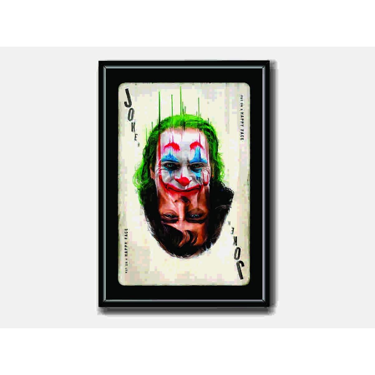 Quadro decorativo com Moldura e Vidro - Joker/Coringa 50x40cm