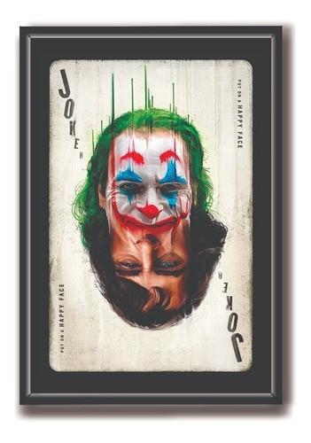 Quadro Decorativo Com Moldura e Vidro -  DC-   Joker/coringa 60x40cm