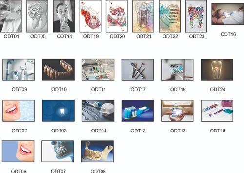 Quadro Decorativo Odontologia Kit 3 Quadros 30x20cm +brinde