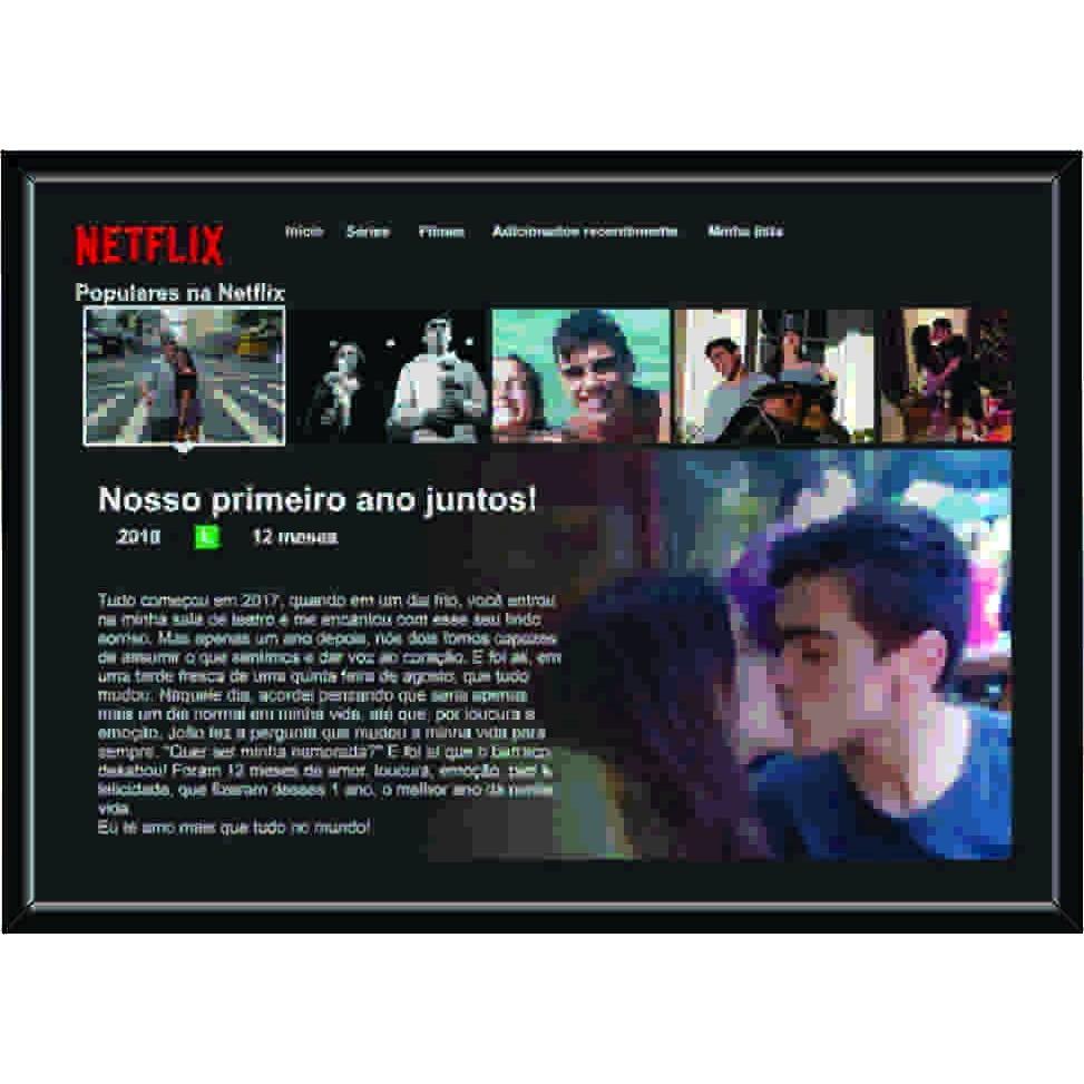 Quadro Personalizavel - Netflix - Presente ideal - Monte o seu - 40x30cm