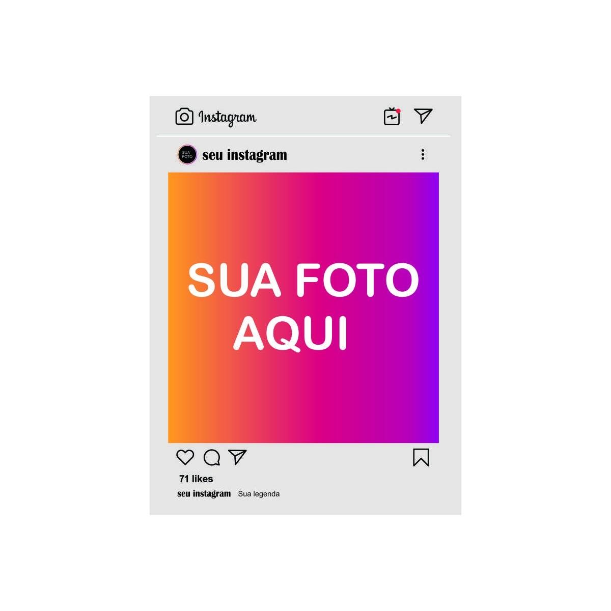 Quadro - Instagram Personalizado - Influencer, Instagraamer. Escolha sua Foto - 30x20cm