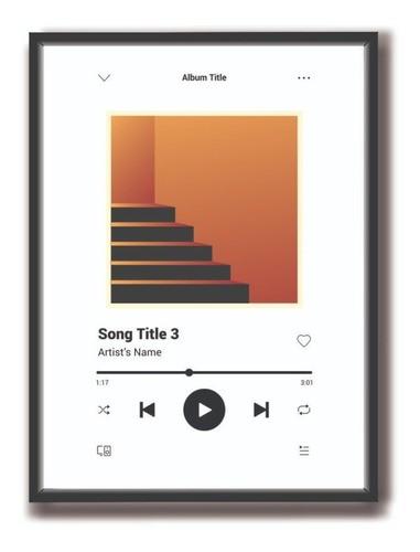 Quadro Spotify Musica Personalizado Em Acrílico 15x21cm