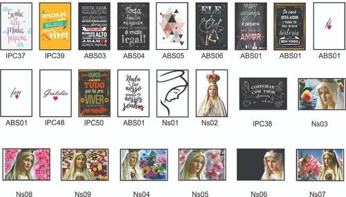 Quadros Decorativos Nossa Senhora Kit De 5 Quadros 30x20cm