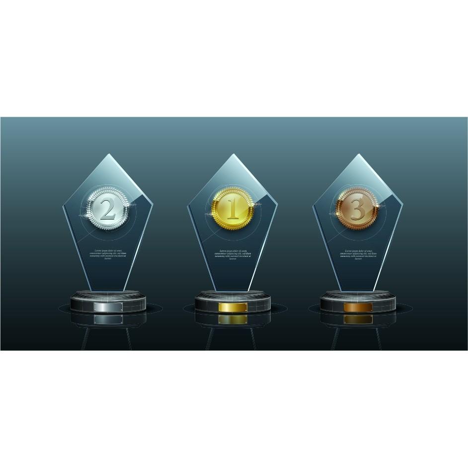 Trofeú Personalizado  - Premiação - Eventos   Campeonatos   Comemorações - 15x10cm