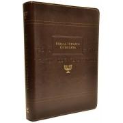 BÍBLIA JUDAICA COMPLETA LUXO (CAPA EM COURO) - MARROM