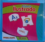 Alfabeto Ilustrado  - Brinquedo Educativo Alfabetização - 78 Peças Em Madeira