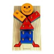 Boneco Geométrico - Brinquedo De Encaixe
