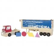Caminhão Geométrico em madeira + formas geométricas
