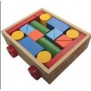 Carrinho Com Blocos De Montar- Brinquedo Educativo Para Crianças A Partir De 18 Meses