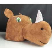 Rinoceronte - Chapéu De Espuma - Estimula A Imaginação