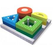 Formas Vazadas -  Brinquedo De Encaixe Pedagógico - 18 Meses