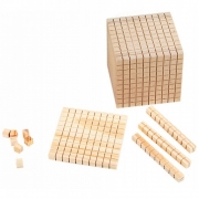 Material Dourado -  Em Madeira  -  611 Peças - Matemática