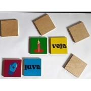 Memória Educativa De Alfabetização - Jogo Educativo- 40 Peças