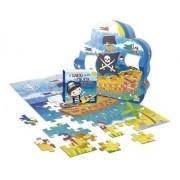 O Navio Perdido Do Pirata Percival: Quebra-Cabeça  + Livro De Histórias