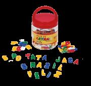 Pote De Letras - Em Plástico - 180 Peças - Alfabetização