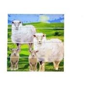 Quebra-Cabeças De Animais E Filhotes - 10 Placas - Em Madeira