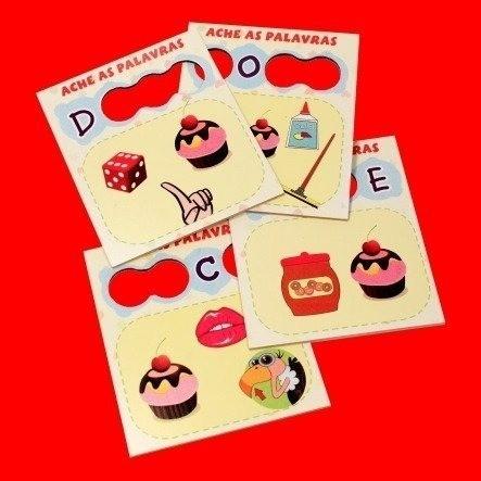 Ache As Palavras -  Brinquedo Para Alfabetização - Em Madeira