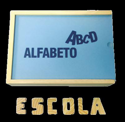 Alfabeto Móvel -  Em Madeira - 40 Peças - Alfabetização  E Inclusão