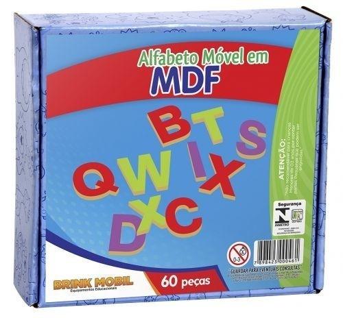 Alfabeto móvel/ em MDF /60 peças