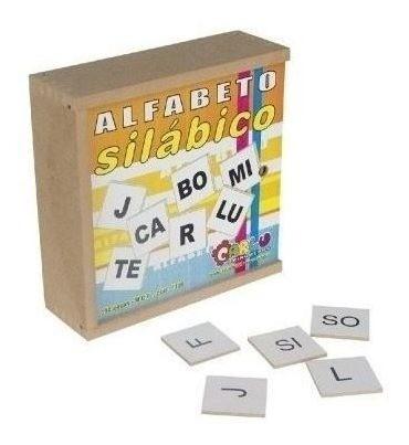 Alfabeto Silábico - Em Madeira - 150 Peças