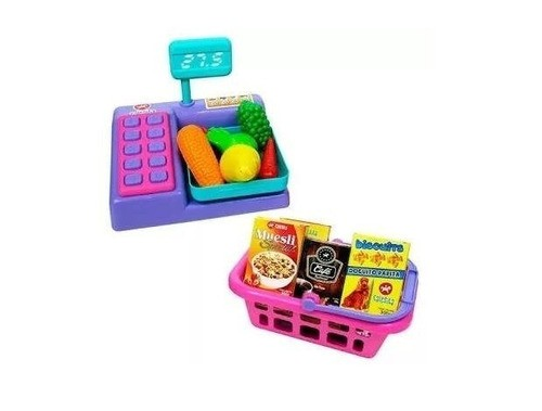 Balança E Cesta De Compras - Brinquedo Educativo