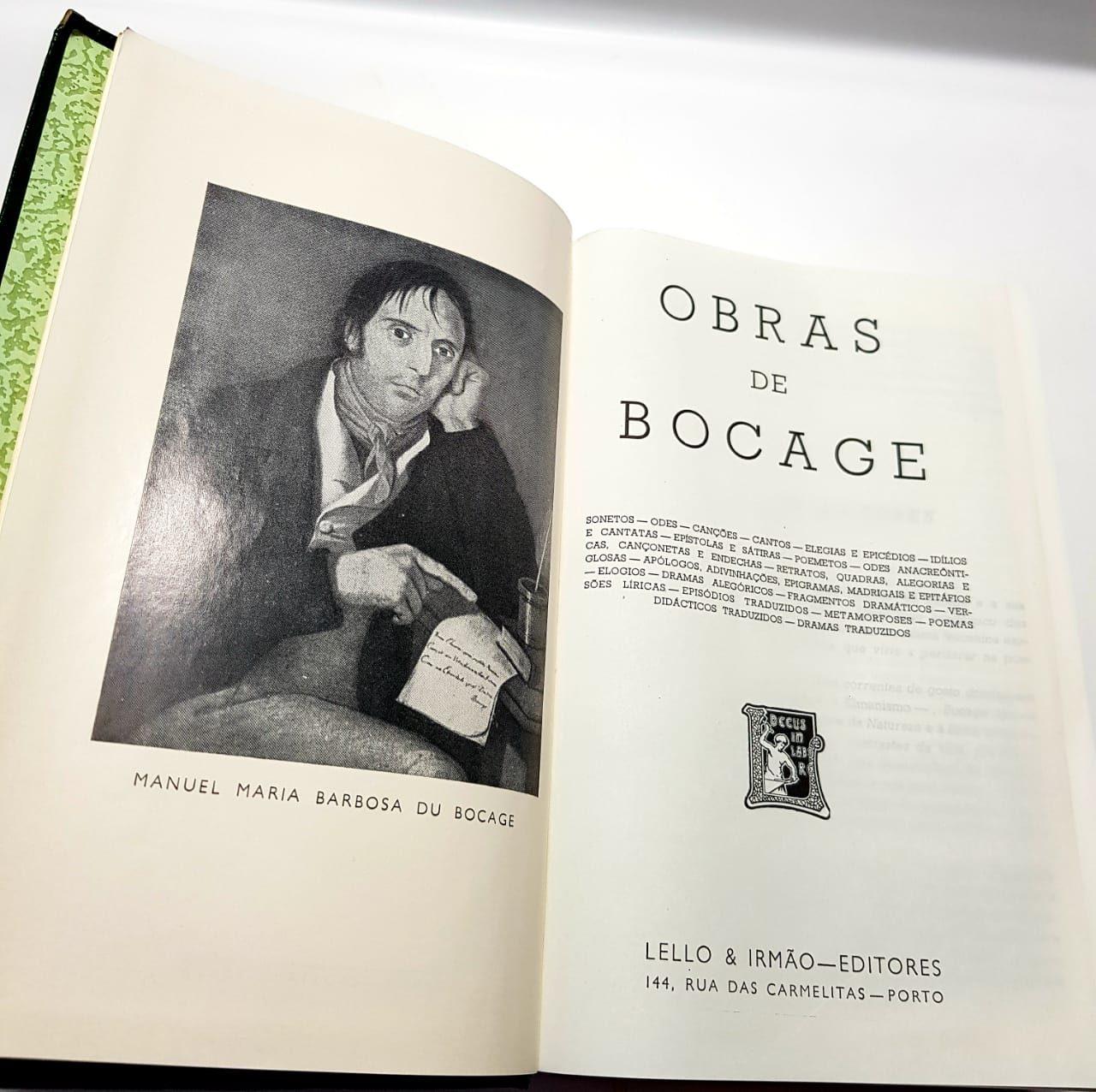 Bocage - Obra Completa - Ed.Lello e Irmão - 1968