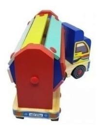 Caminhãozinho Sonoro - Em Madeira