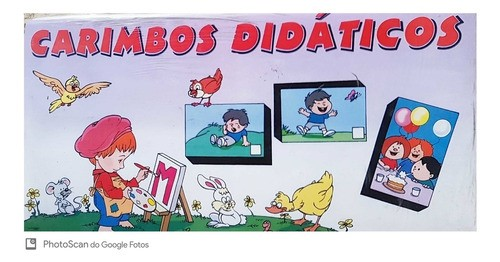 Carimbo Pedagógico Grafismo 20 Peças - Educativo/Pedagógico