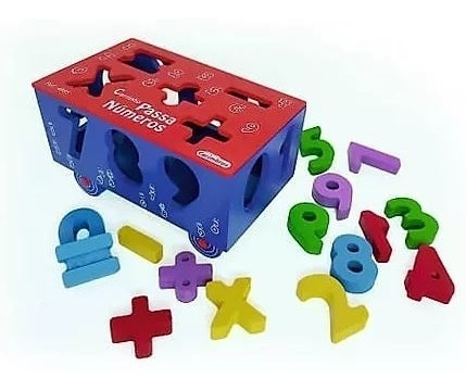 Carrinho Passa Números - Brinquedo De Encaixe