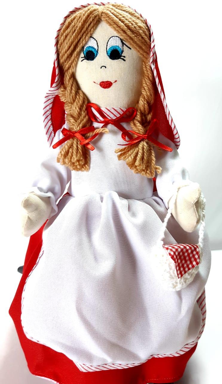 Chapeuzinho Vermelho Boneca - 3 Bonecas em 1