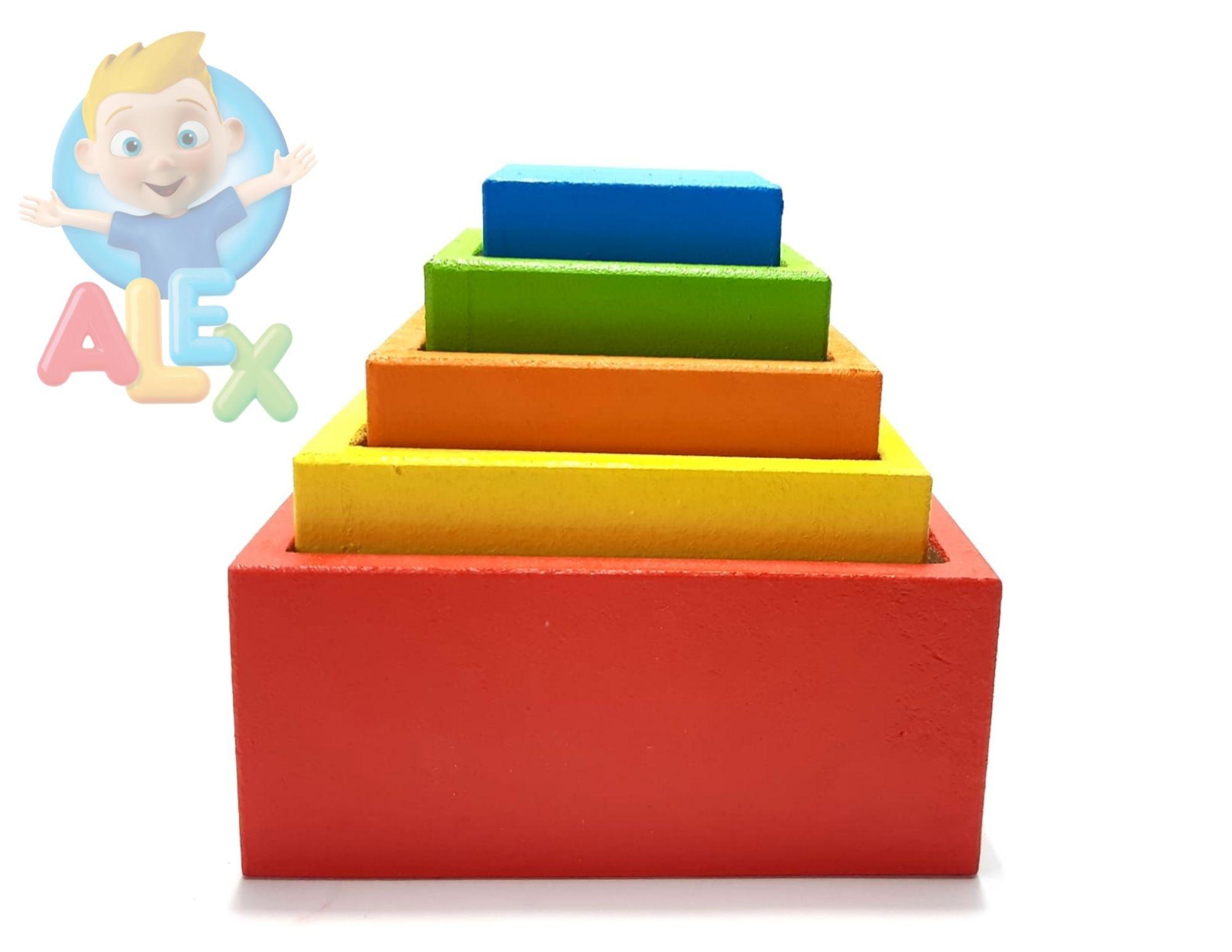 Cubo De Encaixe - Estimula Psicomotricidade Dos Bebês