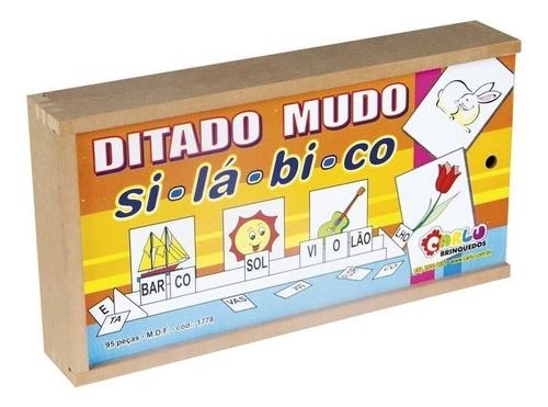 Ditado Mudo Silábico - Alfabetização - Sílabas